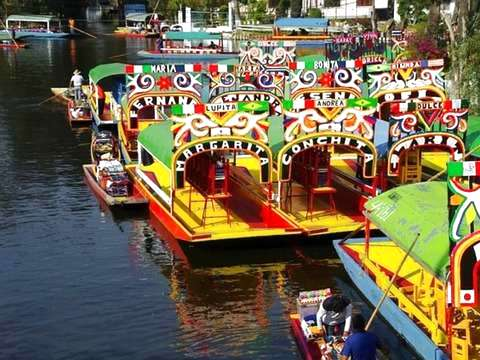 Sail in Boat through the Canals of Xochimilco and Coyoacán