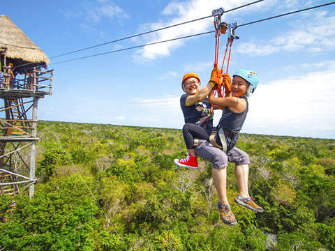Tour of Tulum and Zipline from Riviera Maya