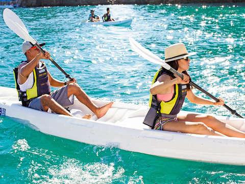 Kayak in the morning at the Arco de Cabo San Lucas